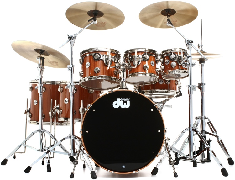 DW Collector\'s Series Cherry Mahogany Shell Pack - 7-piece - Natural Lacquer Finish image 1