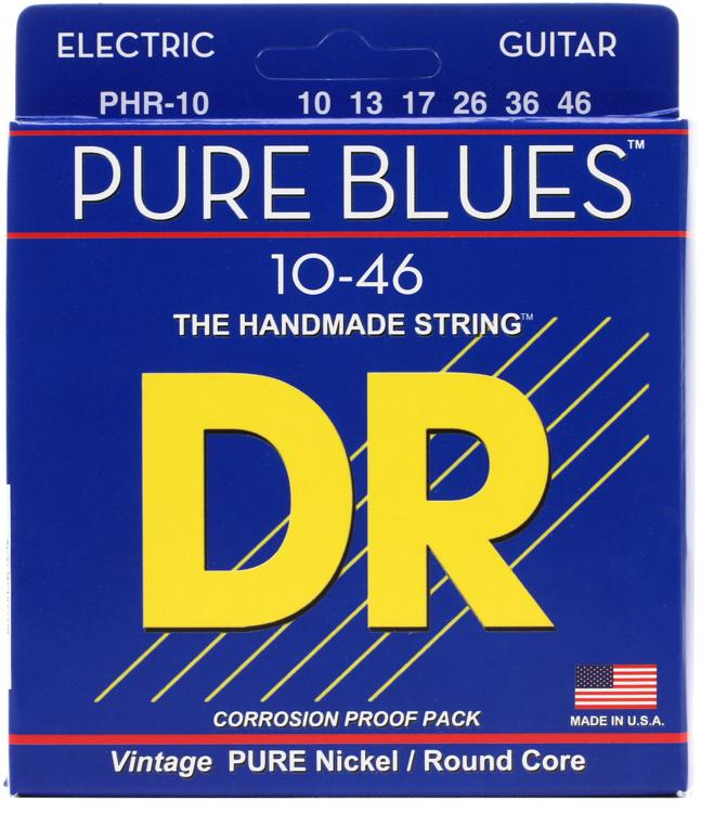 DR Strings PHR-10 Pure Blues Pure Nickel Medium Electic Guitar Strings image 1