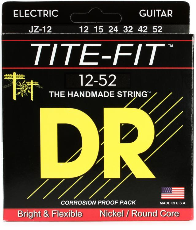 DR Strings JZ-12 Tite-Fit Compression Wound Jazz Electric Guitar Strings image 1
