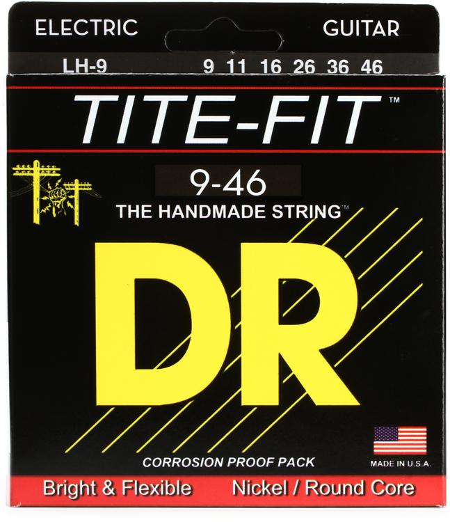 DR Strings LH-9 Tite-Fit Compression Wound Lite Heavy Electric Guitar Strings image 1