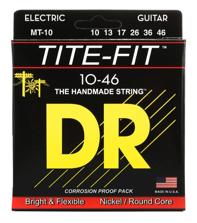 DR Strings MT-10 Tite-Fit Compression Wound Medium Electric Guitar Strings image 1