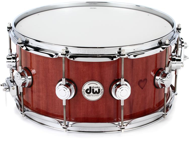 dw collector 39 s purpleheart wood snare drum 6 5 x 14 chrome sweetwater. Black Bedroom Furniture Sets. Home Design Ideas