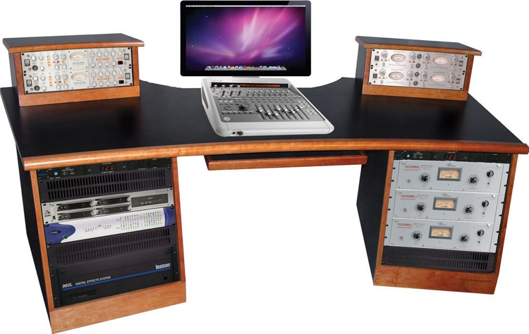 Sound Construction DigiStation Recording Studio Desk - Cherry image 1