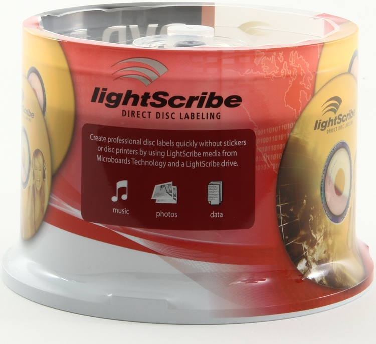 Microboards DVD-R LightScribe, 50 Pack Spindle image 1