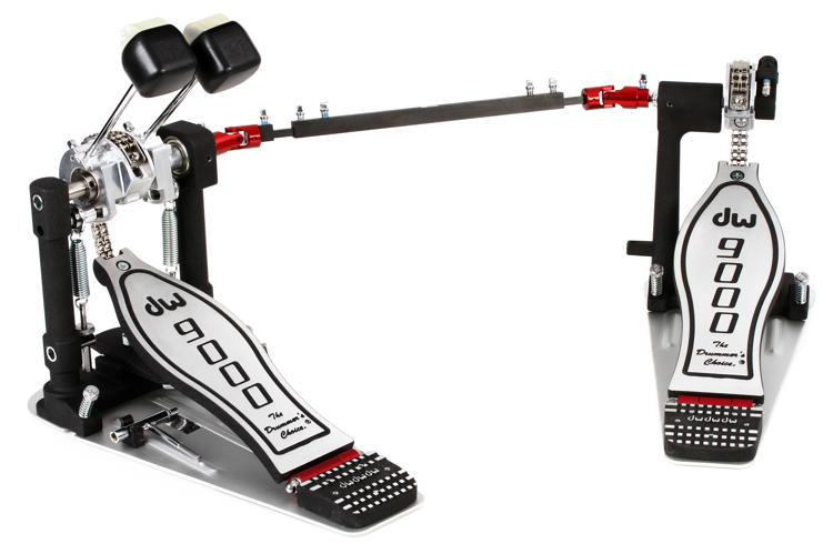 DW 9000 Series Pedal - Left Handed Double -  Standard Footboard image 1