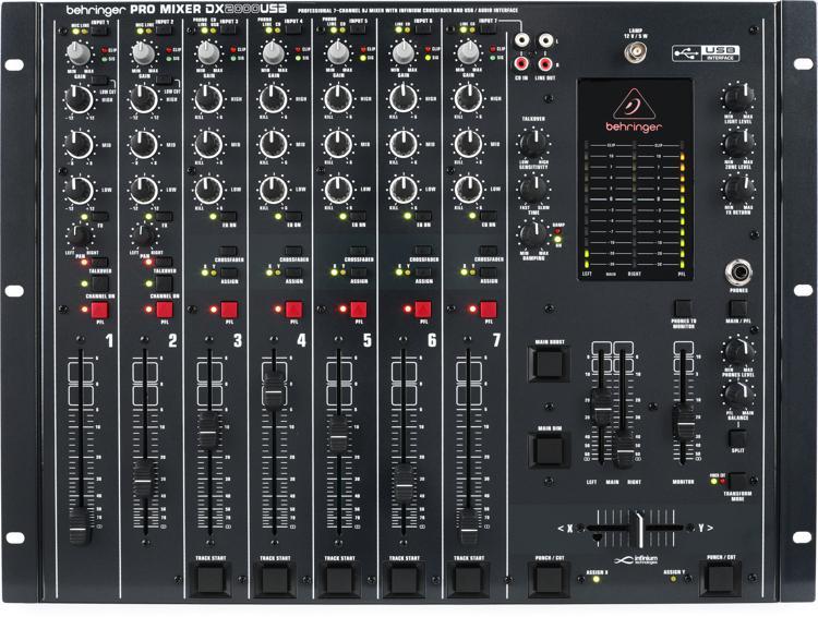 Behringer Pro Mixer DX2000USB 7-channel DJ Mixer image 1