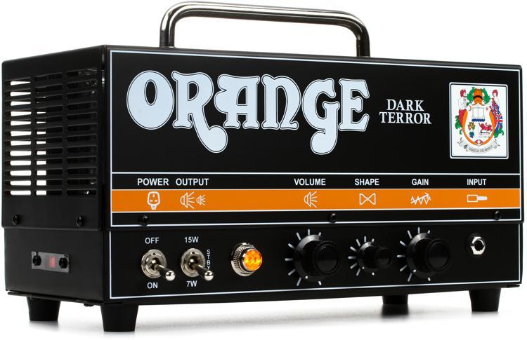 Orange Dark Terror 15/7-watt Hi-Gain Tube Head image 1