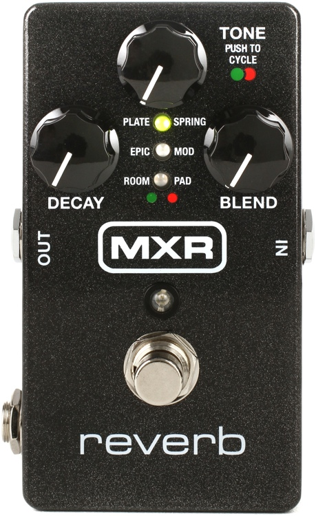 mxr m300 digital reverb pedal sweetwater. Black Bedroom Furniture Sets. Home Design Ideas