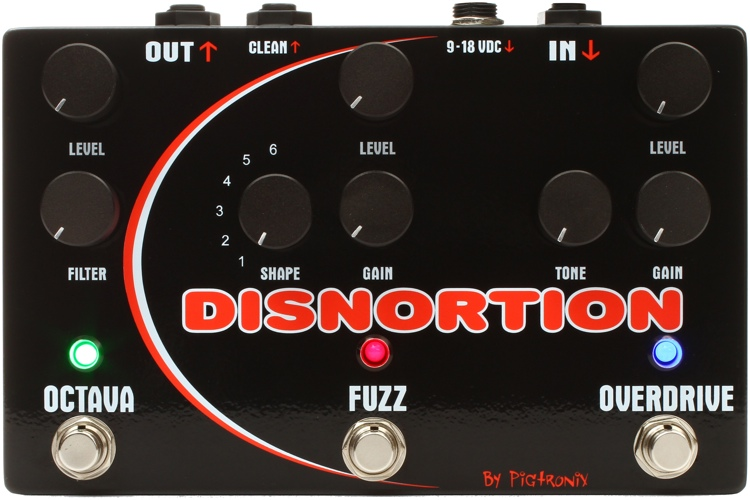 Pigtronix Disnortion Analog Octave/Fuzz/Overdrive Pedal image 1