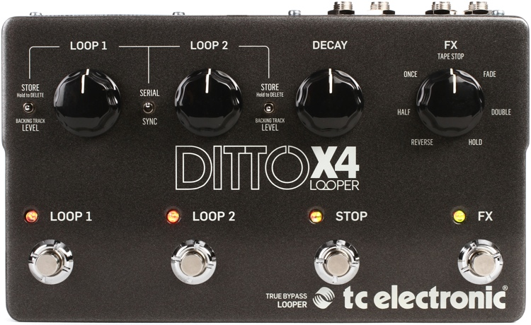 tc electronic ditto x4 looper looper pedal sweetwater. Black Bedroom Furniture Sets. Home Design Ideas