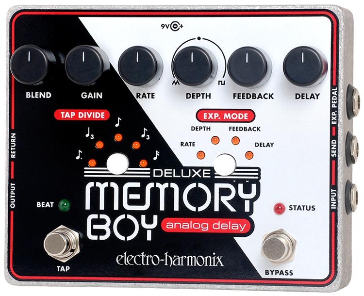 Electro-Harmonix Deluxe Memory Boy Analog Delay Pedal with Tap Tempo image 1