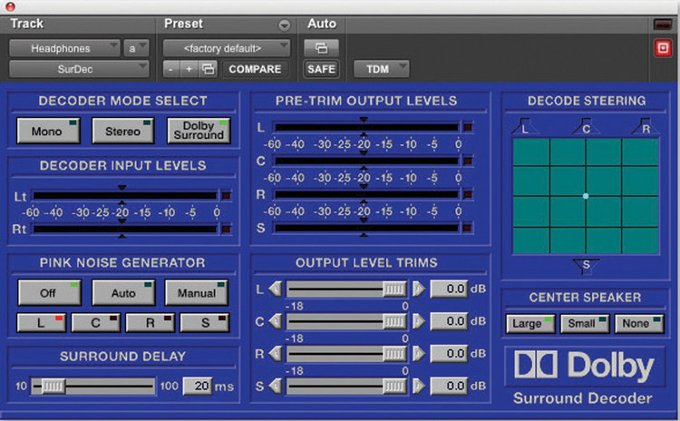 Dolby Surround Tools TDM Plug-in image 1