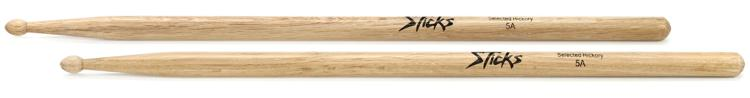 On-Stage Stands 5A Wood Tip Hickory Drumsticks image 1
