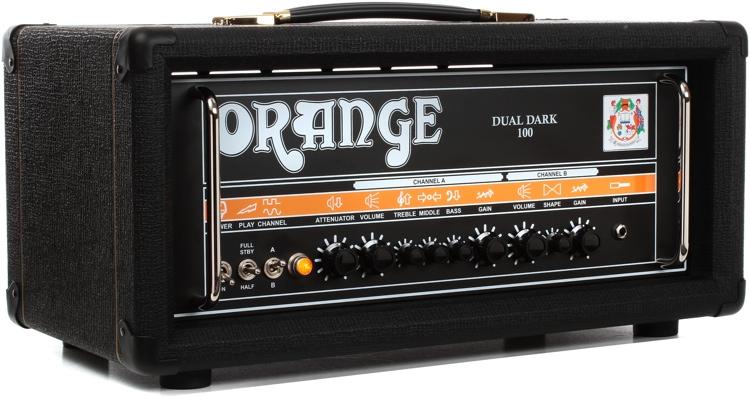 orange dual dark 100 100 70 50 30 watt class a b 2 channel hi gain tube head sweetwater. Black Bedroom Furniture Sets. Home Design Ideas