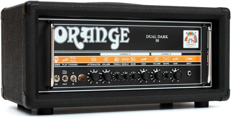 Orange Dual Dark 50 - 50/25-watt, Class A/B 2-channel Hi-Gain Tube Head image 1