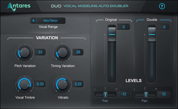 Antares DUO Evo Vocal Doubling Plug-in image 1