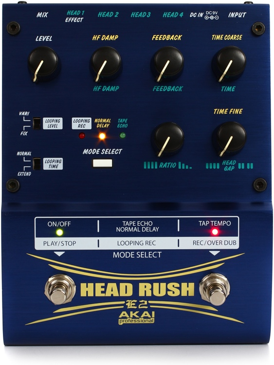 Akai Professional E2 Head Rush Delay/Looper Pedal image 1