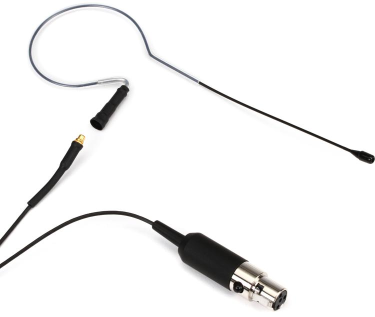 Countryman E6 Omnidirectional Earset for Shure - Speaking, Black, 1mm image 1