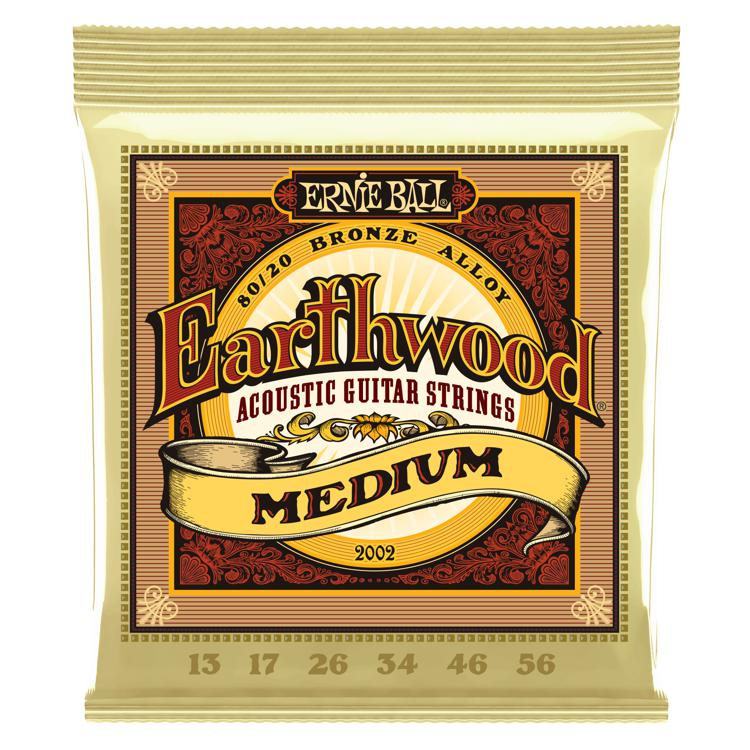 Ernie Ball PO2002 Earthwood 80/20 Bronze Medium Acoustic Strings image 1