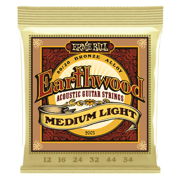 Ernie Ball PO2003 Earthwood 80/20 Bronze Medium Light Acoustic Strings image 1