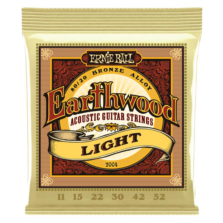 Ernie Ball PO2004 Earthwood 80/20 Bronze Light Acoustic Strings image 1