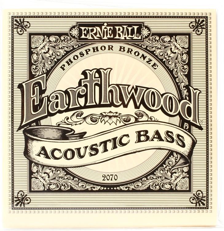 Ernie Ball PO2070 Earthwood Phosphor Bronze Acoustic Bass Strings image 1