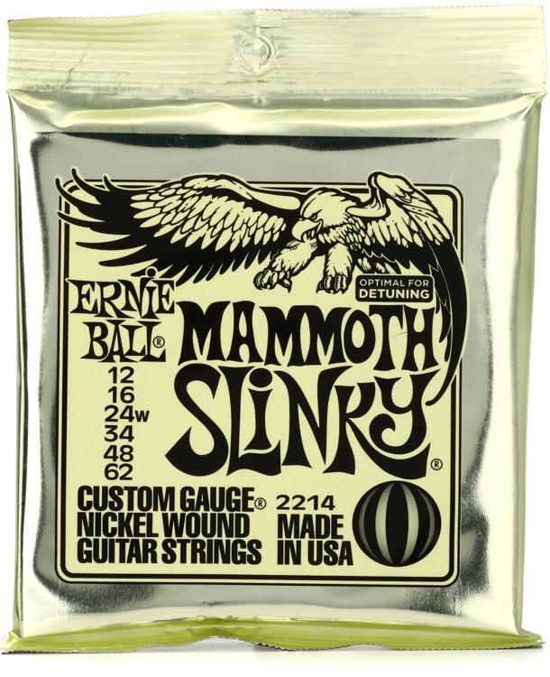 Ernie Ball 2214 Slinky Nickel Wound Electric Guitar Strings - .012-.062 Mammoth Slinky