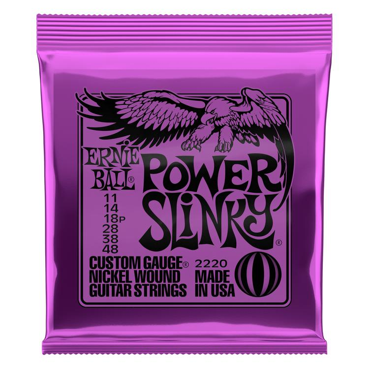 Ernie Ball 2220 Power Slinky Nickel Wound Electric Strings image 1