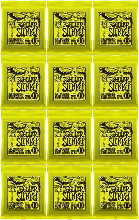 Ernie Ball 2221 Regular Slinky Nickel Wound Electric Strings 12-Pack image 1