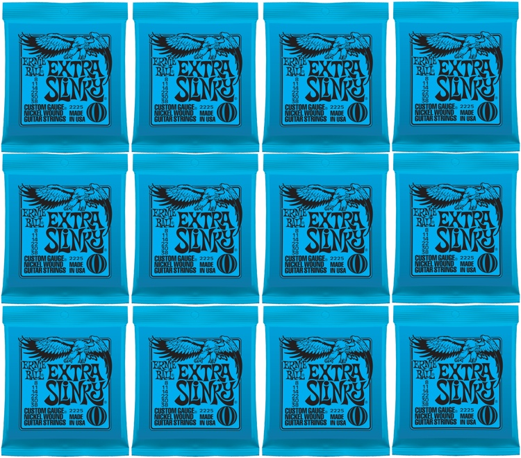 Ernie Ball 2225 Extra Slinky Nickel Wound Electric Strings 12-Pack image 1