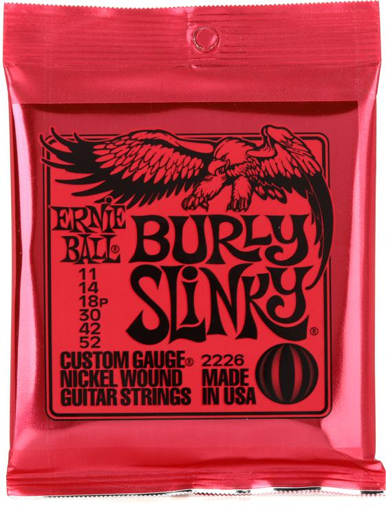 ernie ball 2226 burly slinky nickel wound electric guitar strings 011 052 sweetwater. Black Bedroom Furniture Sets. Home Design Ideas
