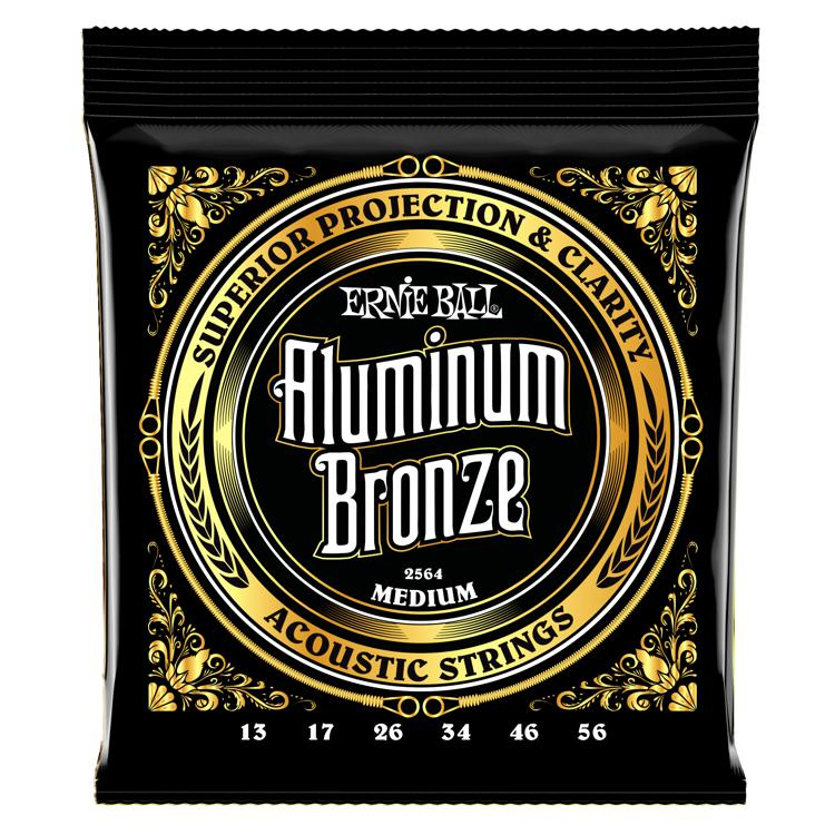 Ernie Ball 2564 Aluminum Bronze Acoustic Strings - .013-.056 Medium image 1