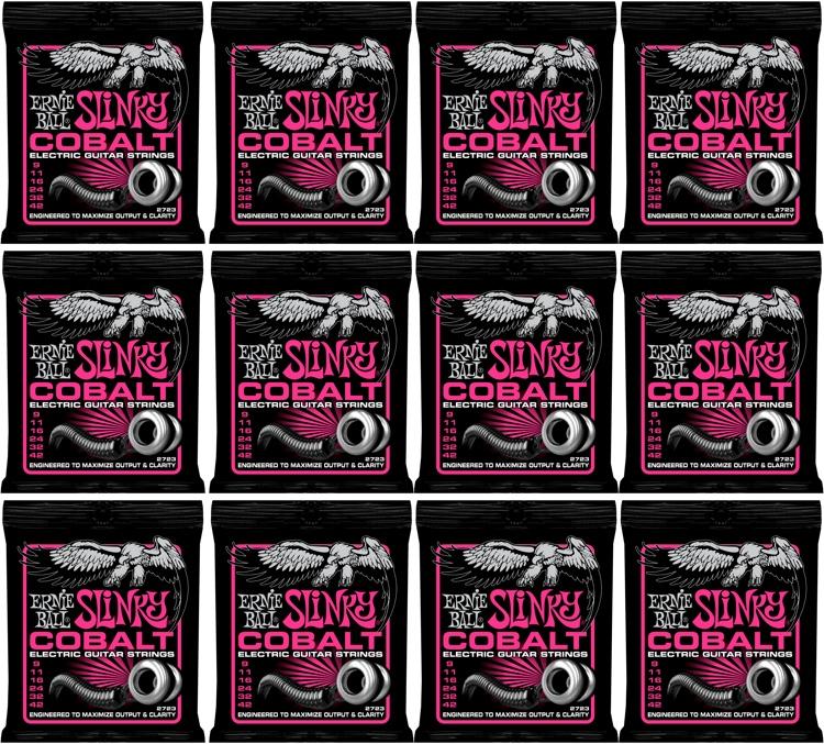 Ernie Ball 2723 Cobalt Super Slinky Electric Strings 12-Pack image 1