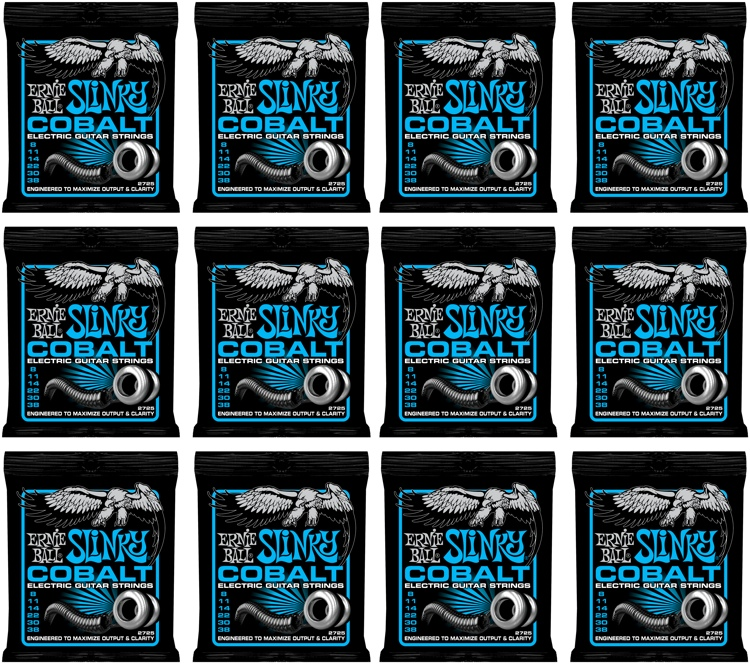Ernie Ball 2725 Cobalt Extra Slinky Electric Strings 12-Pack image 1