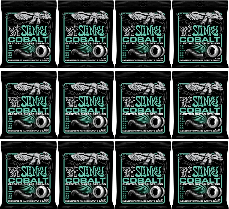 Ernie Ball 2726 Cobalt Not Even Slinky Electric Strings 12-Pack image 1