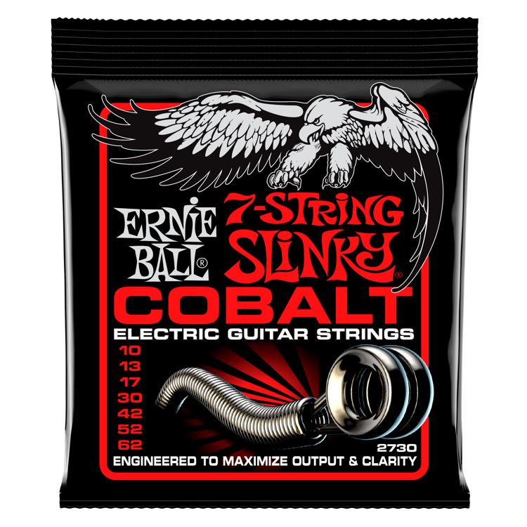 Ernie Ball 2730 Cobalt 7-string Skinny Top/Heavy Bottom Electric Strings image 1