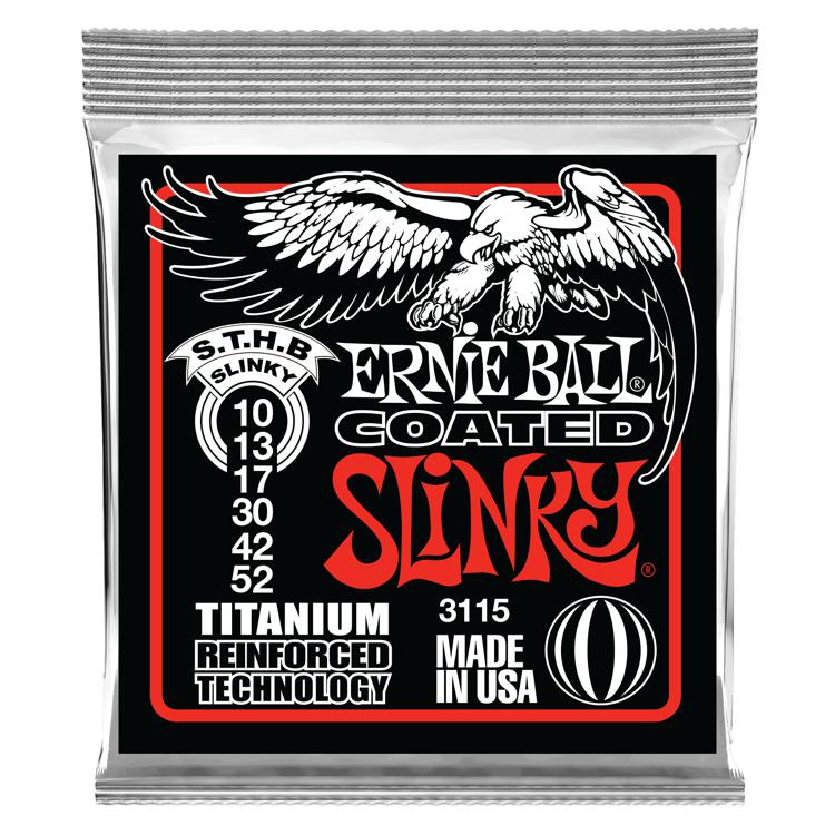 Ernie Ball 3115 Coated Skinny Top/Hvy Bottom Titanium RPS Electric Strings image 1