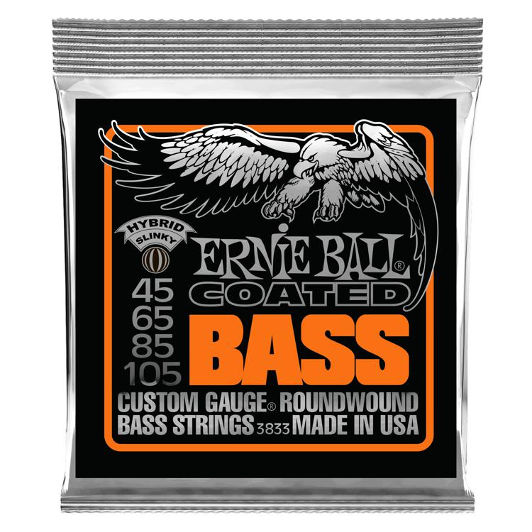 Ernie Ball 3833 Coated Hybrid Slinky Roundwound Bass Strings image 1
