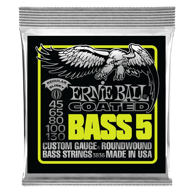Ernie Ball 3832 Coated Regular Slinky Roundwound 5-String Bass Strings image 1