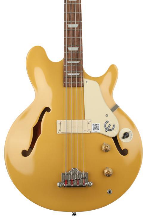 Epiphone Jack Casady Artist Series Signature Bass - Metallic Gold image 1