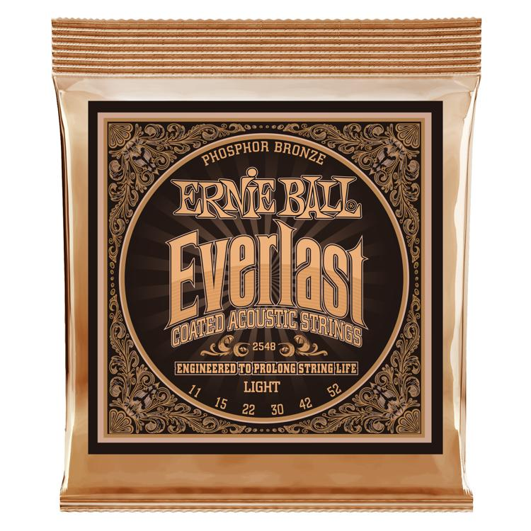 Ernie Ball 2548 Everlast Coated Phosphor Bronze Light Acoustic Strings image 1