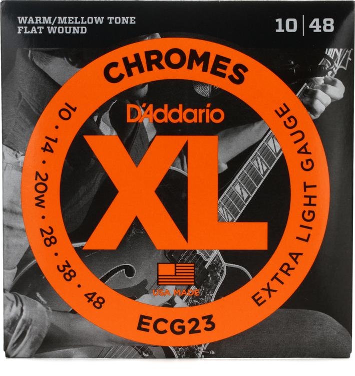 D\'Addario ECG23 Chromes Flatwound Extra Light Electric Strings image 1