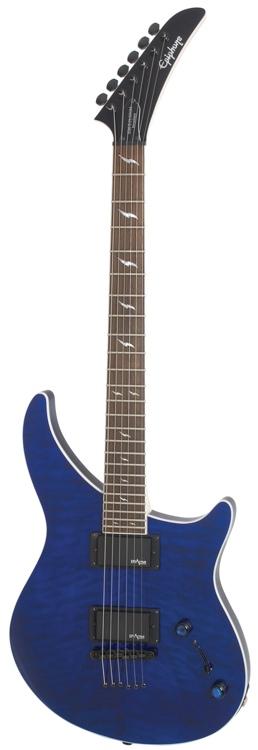 Epiphone Prophecy EM-2 Custom EX - Stopbar, Sapphire Blue image 1