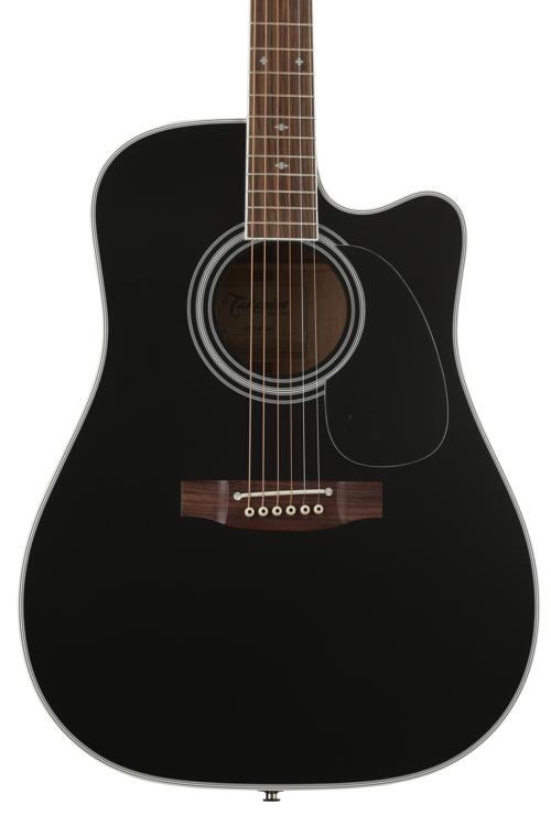 Takamine EF341SC Dreadnought Acoustic/Electric w/Cutaway - Black image 1