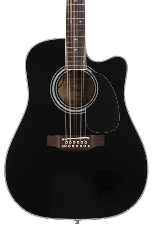 Takamine EF381SC 12-String Dreadnought Acoustic-Electric, Black image 1