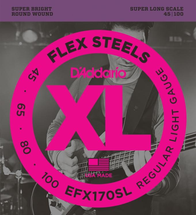 D\'Addario FlexSteels EFX170SL - Regular Light Gauge image 1