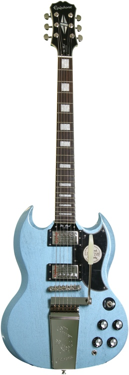 Epiphone LTD SG Custom with Maestro - TV Pelham Blue image 1