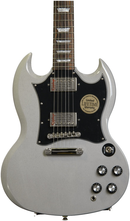 Epiphone Limited Edition Silver Series SG - G400 Pro, TV Silver image 1