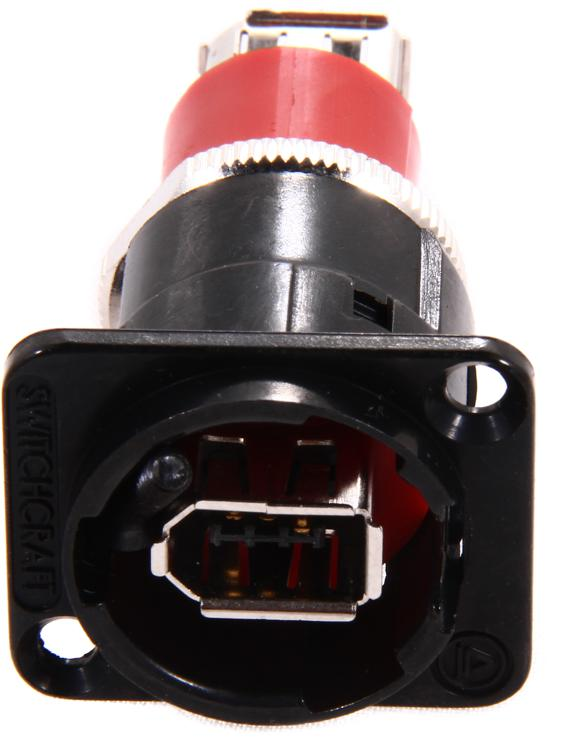 Switchcraft Panel Mount Connector - Firewire 400 Cross-Wired image 1