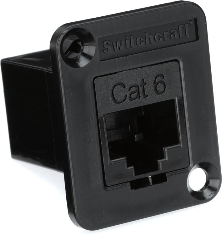 switchcraft rj45 cat 6 connector rca panel mount sweetwater